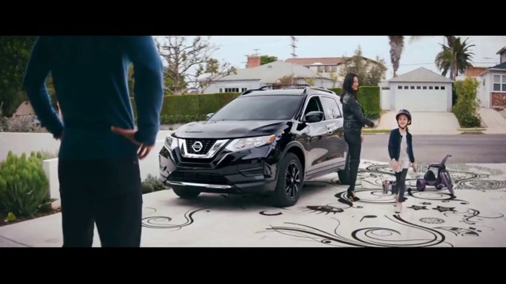 nissan tv commercial 39 midnight edition 2017 rogue sport. Black Bedroom Furniture Sets. Home Design Ideas