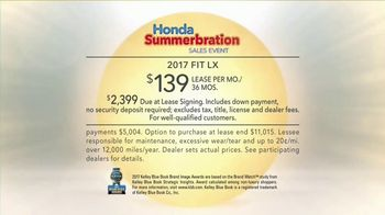 Honda Summerbration Sales Event TV Spot, 'Pie: 2017 Fit LX' [T2] - Thumbnail 7