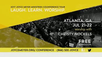 2017 Joyce Meyer Ministries Conference Tour TV Spot, 'Atlanta & Milwaukee' - 60 commercial airings