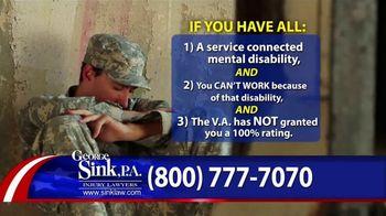 George Sink, P.A. TV Spot, 'Veterans Benefits'