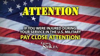 George Sink, P.A. TV Spot, 'Veterans Benefits' - Thumbnail 1