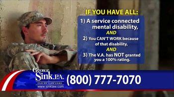 George Sink, P.A. TV Spot, 'Veterans Benefits' - Thumbnail 3