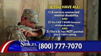 George Sink, P.A. TV Spot, 'Veterans Benefits' - Thumbnail 4