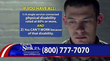 George Sink, P.A. TV Spot, 'Veterans Benefits' - Thumbnail 5