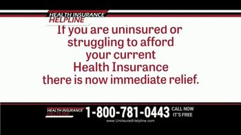 Health Insurance Helpline TV Spot, 'Immediate Relief'