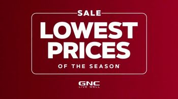 GNC Lowest Prices of the Season Sale TV Spot, 'Up to 50 Percent Off'