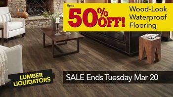 Lumber Liquidators Spring Black Friday Sale TV Spot, 'Waterproof Flooring' - Thumbnail 9