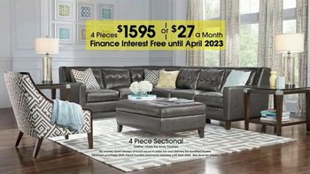 Rooms to Go Anniversary Sale TV Spot, 'Four-Piece Leather Sectionals' - Thumbnail 4