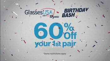 GlassesUSA.com Birthday Bash TV Spot, 'First Pair' - Thumbnail 10