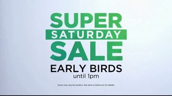Kohl's Super Saturday Sale TV Spot, 'Tops, Shoes and Towels'