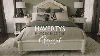 Havertys Tempur-Pedic Floor Model Closeout TV Spot, 'Find Incredible Deals' - Thumbnail 1