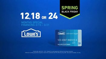 Lowe's Spring Black Friday TV Spot, 'The Moment: Lowe's Card' - Thumbnail 10
