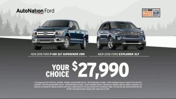 AutoNation Truck Month TV Spot, 'Huge Haul: Ford F-150 and Explorer' - Thumbnail 4