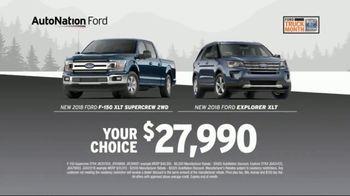 AutoNation Truck Month TV Spot, 'Huge Haul: Ford F-150 and Explorer' - Thumbnail 5