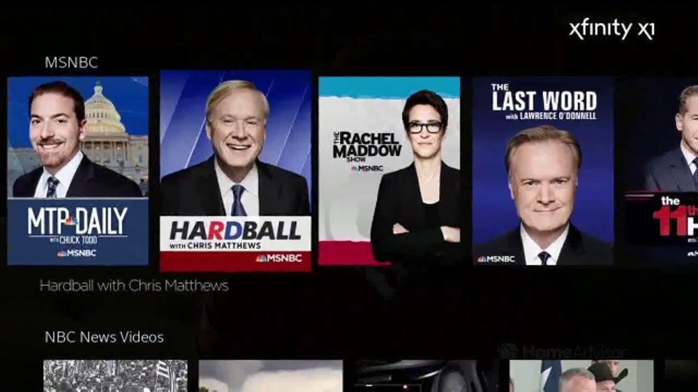 XFINITY X1 TV Commercial, 'MSNBC Shows'