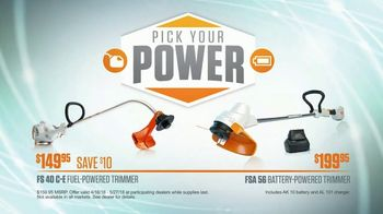 STIHL Dealer Days TV Spot, 'Pick Your Power: FS 40 C-E and FSA 56'