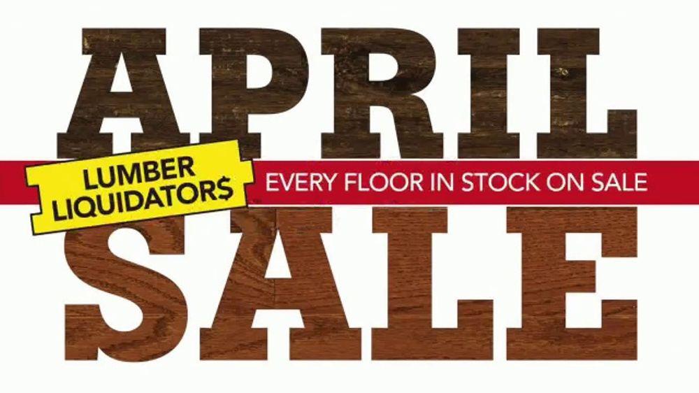 Lumber Liquidators April Sale Tv Commercial Hardwood And