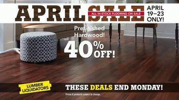 Lumber Liquidators April Sale TV Spot, 'Hardwood and Laminate' - Thumbnail 4