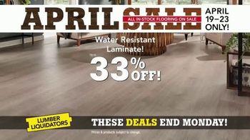 Lumber Liquidators April Sale TV Spot, 'Hardwood and Laminate' - Thumbnail 5