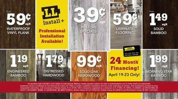 Lumber Liquidators April Sale TV Spot, 'Hardwood and Laminate' - Thumbnail 9