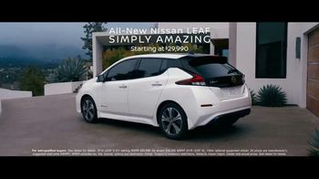 2018 Nissan LEAF TV Spot, 'Intelligent Mobility' [T1] - Thumbnail 10