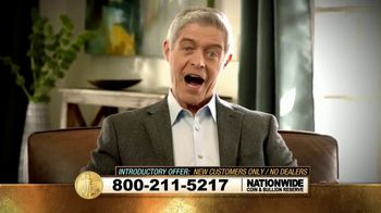 Nationwide Gold & Bullion Reserve TV Spot, 'At Cost Gold'
