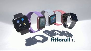Fitbit Versa TV Spot, 'Fit-For-All Fit' - Thumbnail 9