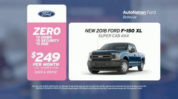 AutoNation Super Zero Event TV Spot, '2018 Ford F-150' - 990 commercial airings