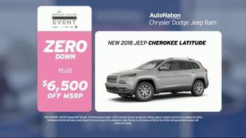 AutoNation Super Zero Event TV Spot, '2017 Ram 1500 & 2018 Cherokee' - Thumbnail 7