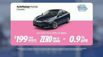 AutoNation Super Zero Event TV Spot, '2018 Honda Civic LX Sedan' - Thumbnail 7