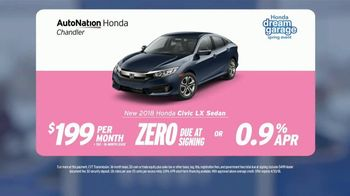 AutoNation Super Zero Event TV Spot, '2018 Honda Civic LX Sedan' - Thumbnail 8
