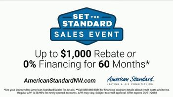 American Standard Set the Standard Sales Event TV Spot, 'Real Problems' - Thumbnail 8