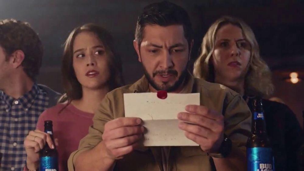Bud light tv commercial the letter ispot aloadofball Gallery