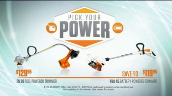 STIHL Dealer Days TV Spot, 'Pick Your Power: Fuel or Battery Trimmer'