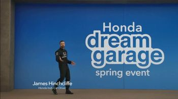 Honda Dream Garage Spring Event TV Spot, 'Electrifying' [T2] Feat. James Hinchcliffe - 505 commercial airings