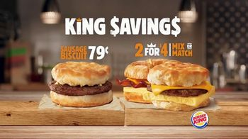 Burger King King Savings TV Spot, 'Breakfast Just Got Better' - Thumbnail 2