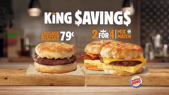 Burger King King Savings TV Spot, 'Breakfast Just Got Better' - Thumbnail 3
