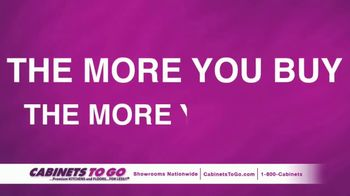 Cabinets To Go Buy More Save More Sale TV Spot, '2018 April'