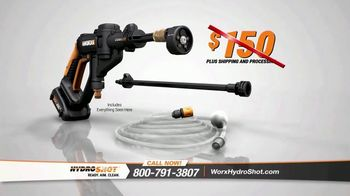 Worx Hydroshot TV Spot, 'World's First Portable Power Cleaner'