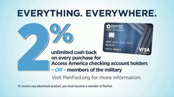 PenFed Power Cash Rewards VISA TV Spot, 'Everything, Everywhere' - Thumbnail 8