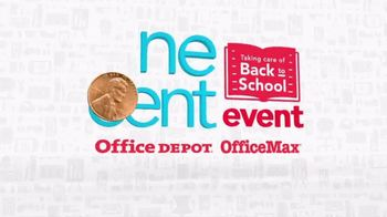 Office Depot One Cent Event TV Spot, 'Supplies' - Thumbnail 3