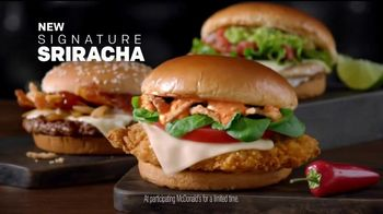 McDonald's Signature Sriracha Sandwich TV Spot, 'Right Amount of Spice'