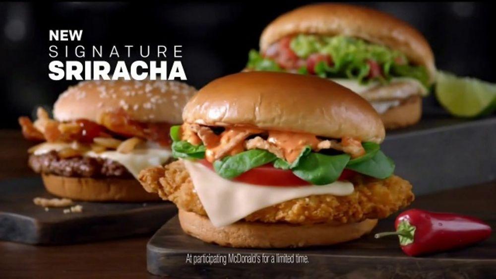 McDonald's Signature Sriracha Sandwich TV Commercial ...