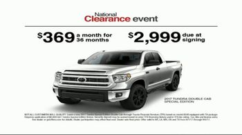 Toyota National Clearance Event TV Spot, 'Could Be Yours: 2017 Tundra' - Thumbnail 6