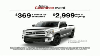 Toyota National Clearance Event TV Spot, 'Could Be Yours: 2017 Tundra' - Thumbnail 7