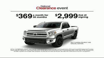 Toyota National Clearance Event TV Spot, 'Could Be Yours: 2017 Tundra' - Thumbnail 8