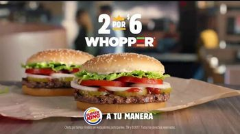 Burger King 2 for $6 Whopper Deal TV Spot, 'Es verdad' [Spanish] - Thumbnail 7