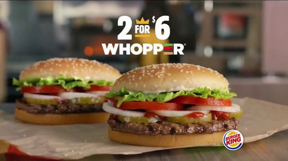 Burger King 2 For 6 Whopper Deal TV Commercial Prepared To Order