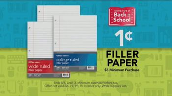 Office Depot OfficeMax Taking Care of Back to School TV Spot, 'Paper' - Thumbnail 6