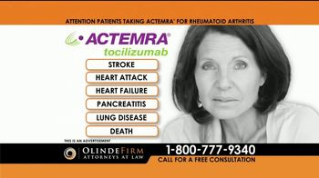 Olinde Firm TV Spot, 'Actemra Alert' - Thumbnail 4
